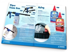 Technical brochure design and product catalogue pages